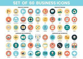 Conjunto de iconos de creatividad, hardware y tecnología