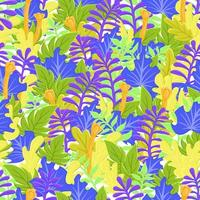 Stylized green leaves pattern