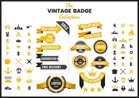 Golden Vintage Badge Collection