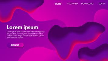 Flüssiger purpurroter moderner Hintergrund der abstrakten Steigung