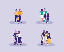 grupo de personagens da família