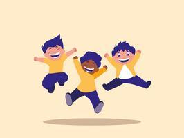 Gruppo di bambini che saltano