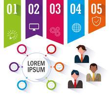 ícones de infográfico e negócios