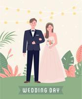 Par casando, ficar, exterior