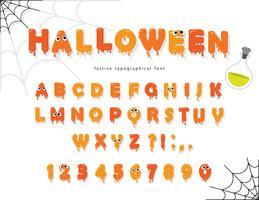 Halloween Pumking Schriftart