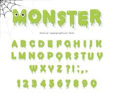 Fonte de monstro bonito de Halloween para crianças