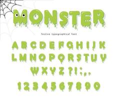 Halloween cute monster font for kids