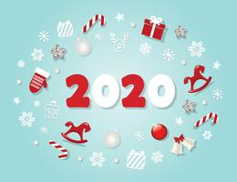 Modelo de ano novo de 2020