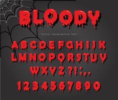 Halloween Blut Schrift