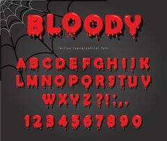 Halloween blood font vector