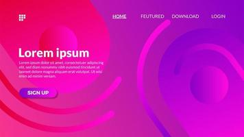 Modern gradient abstract purple color web background