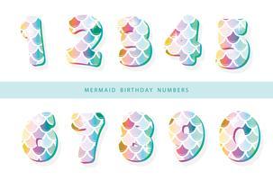Mermaid scale numbers