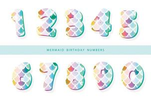 Mermaid scale numbers vector