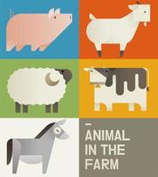 Cute farm animals card