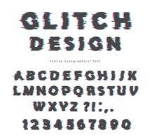 Glitch typsnitt design