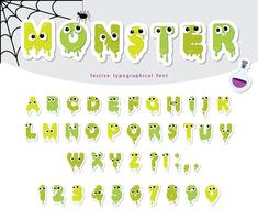 Papel de monstro de Halloween cortado