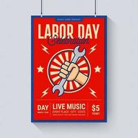 Labor Day Celebration Music Poster Mall