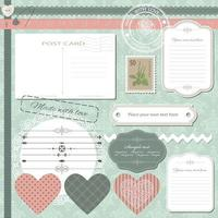 Scrapbook set with different elements