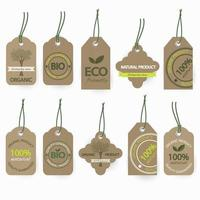 Naturliga bioorganiska kartongetiketter