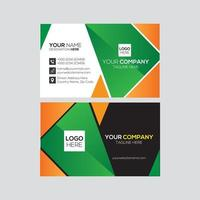 Simple and Clean Geometric Modern Business Card