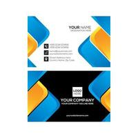 Clean Blue and Yellow  Modern Business Card Design