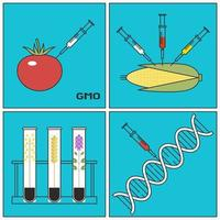 Research Concept of Genetically Modified Plants GMO vector