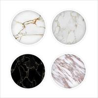 White Mable round icon set