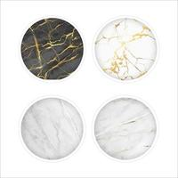Mable round foil icon set