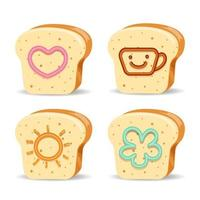 Bread with Cute Jam Designs
