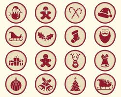 Christmas, winter Badge and Design Elements with holiday symbols