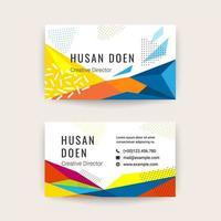 Modern visitkortsmalldesign