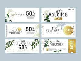 Gift voucher Coupon template collection