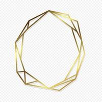 Gold geometric frame