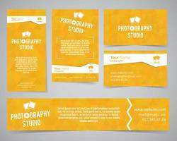 Modern identity set for photography studio or other business vector