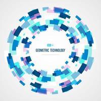 Colore blu astratto del cerchio del quadrato di tecnologia di fondo futuristico