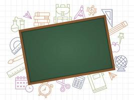 Blackboard School Template vector
