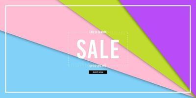 Paper Cut Colorful Sale Banner vector