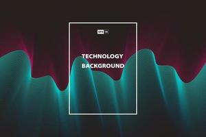 Abstract wavy technology color background template design
