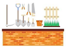 Uppsättning av trädgårdsutrustning