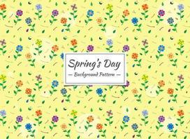 Vårens sömlösa färgmönster