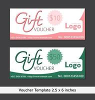 Clean and Modern Gift Voucher Template Sets