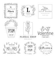 Plantillas de marco floral vector