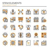 Conjunto de elementos STEM Duotone Thin Line