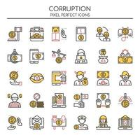 Set of Duotone Corruption Icons