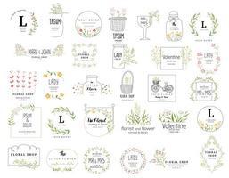 Premium floral logo templates vector