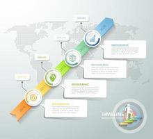 Plantilla de infografía concepto empresarial