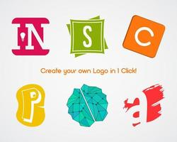Set of abstract creative logo design elements for creating your own logotype