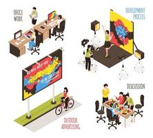 Advertising Agency Design Set