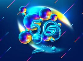 Símbolo de teléfono inteligente 5G