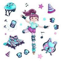 Conjunto de niña patinar